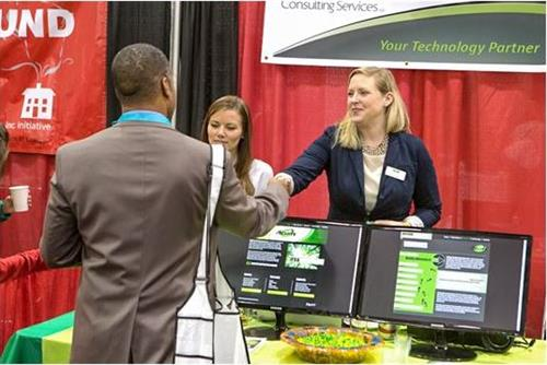 Working the InBusiness Expo.