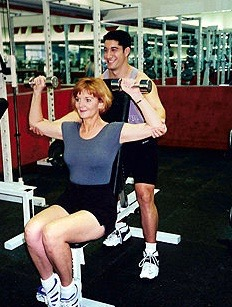 training with my first client, Susan