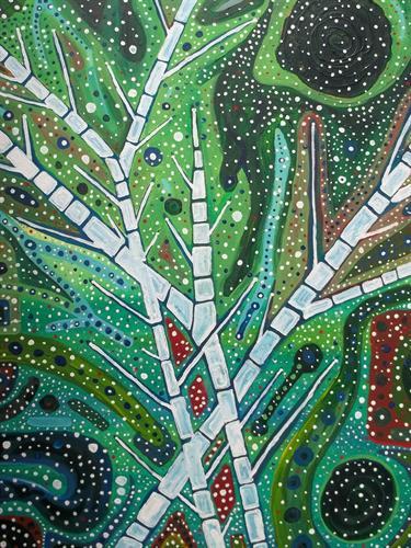 Title: Zentropy  Medium: Watercolor, Gouache, Acrylic