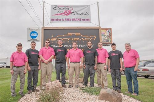 Our Team photo during Brakes For Breasts October 2016