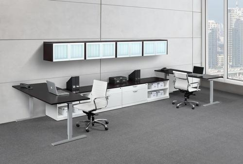 Ergonomic Sit Stand Workstations with Side Storage