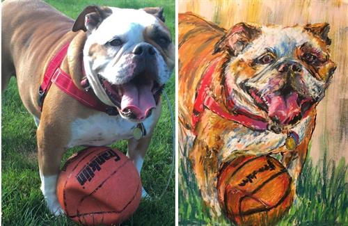 Send a photo or two of a beloved pet for a portrait delivered to your door.