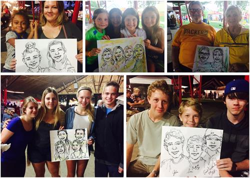 Expressive portraits bring families together at the Good Neighbor Festival!