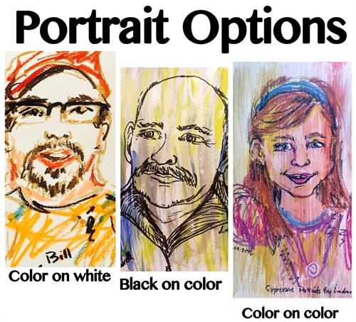 Options for various looks for expressive portraits to fit your style and event!