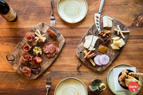 Meat and cheese boards featuring local and regional meats and cheeses