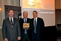Randy, Doug and Tony accepting the Accident Fund award for Top Agency of the Territory