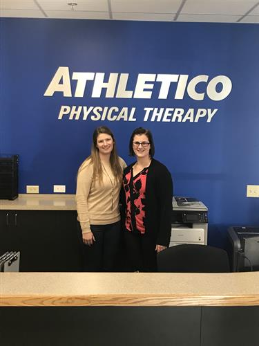 Ashley DiCarlo (Office Coordinator) and Linda Krakora (Facility Manager)