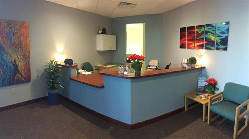Recently updated reception area