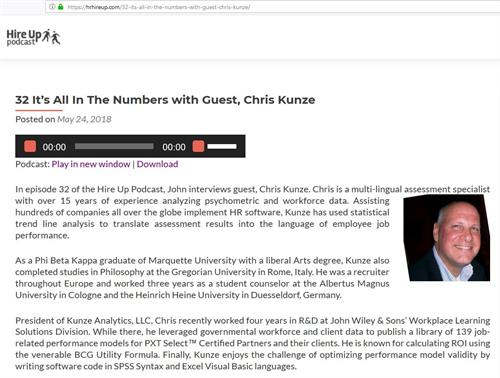 HRHireUp.com Episode 32 interviews Chris Kunze