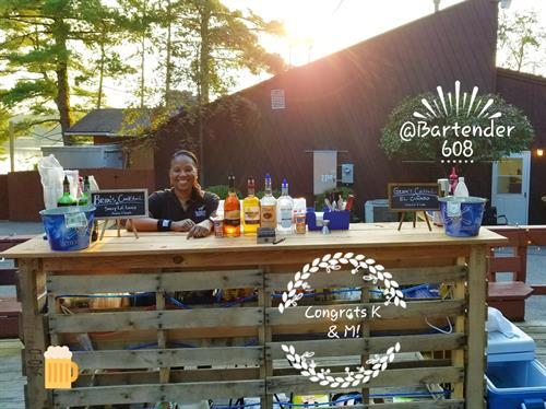 Perlstein Resort Outdoor Bar Wedding Reception