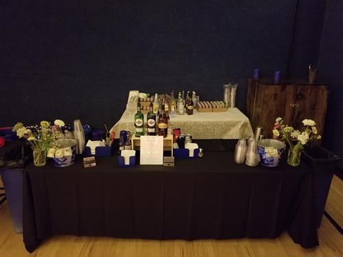 Perlstein Resort Indoor Bar Wedding Reception