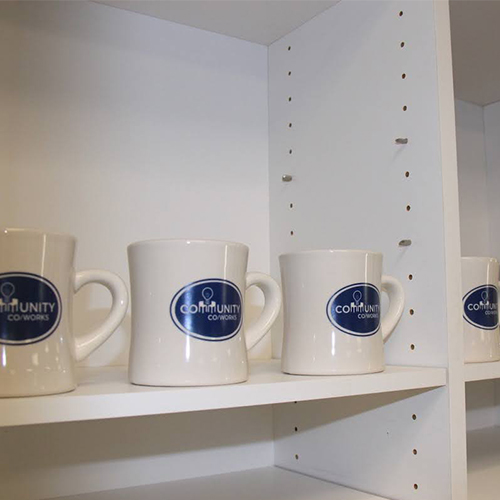Community CoWorks coffee tea and snacks are included