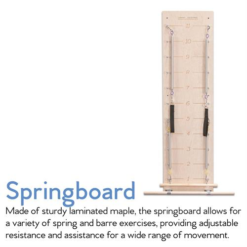 With the Springboard, each limb works with its own spring. Each limb working independently adds a significant coordination challenge - for the brain and for the body!
