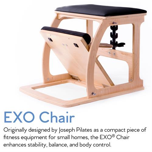 The EXO Chair is an amazing apparatus we use in classes. It delivers a unique and super fun, full-body workout!
