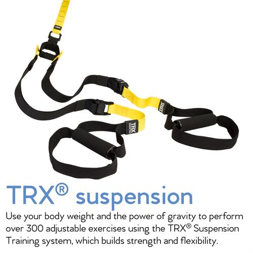 TRX Suspension Training is yet another system we incorporate into classes at Club Pilates. With TRX, we can perform hundreds of exercises that build, burn, tone and strengthen.