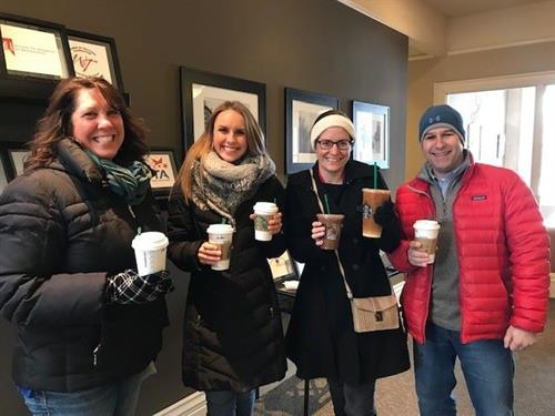 Wednesday Lattes - no matter the weather!