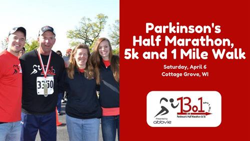 April's annual Parkinson's Half Marathon, 5k, and 1 mile walk attracts over 1,400 participants each year. Come enjoy an early-season race on the Glacial Drumlin Trail!