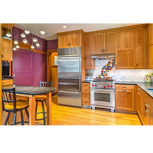Interior of remodeled kitchen