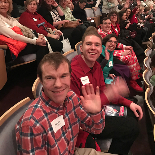 Alex Haunty Theater and Arts Fund, Inc takes groups of people with disabilities to the Overture Center to see a Broadway musical each year.