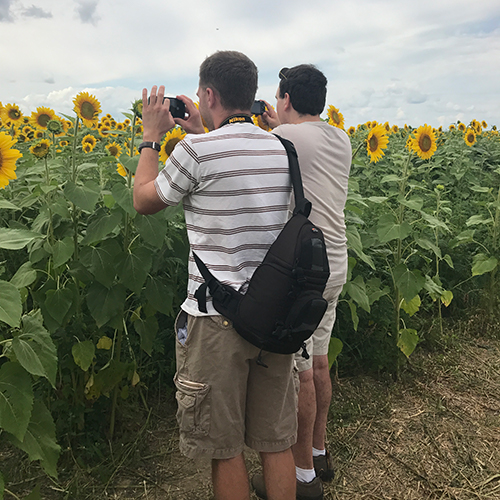 During the summer we do day trips like going to Pope Sunflower Farm.