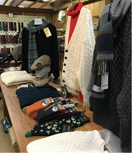 Cashmere sweaters from Scotland