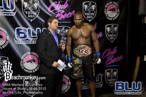 Interviewing at the Warfare MMA event in Myrtle Beach.