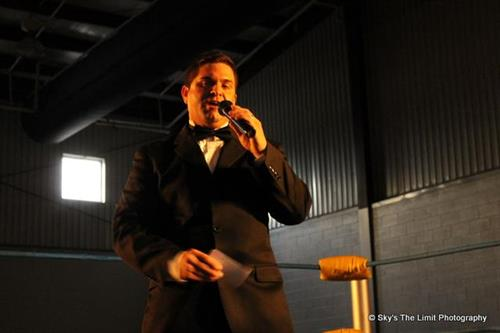 Ring announcing for Fall Brawl II.