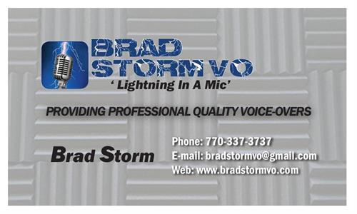 BradStormVO Business Card
