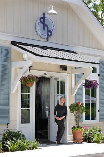 Silja Burns, Owner, at DHP entrance