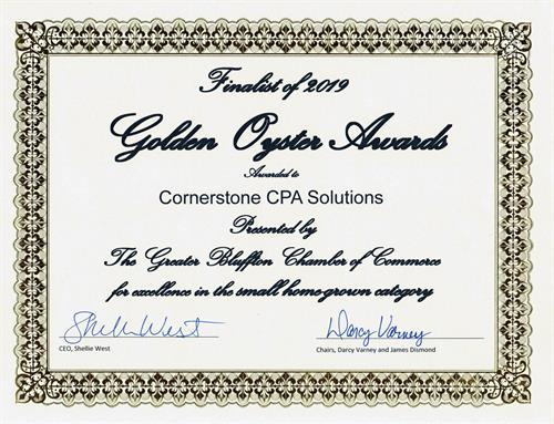 2019 Golden Oyster Awards Finalist