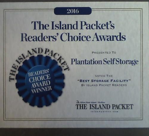 2016 Readers' Choice Award - Best Storage Facility - 3 Years in a Row!