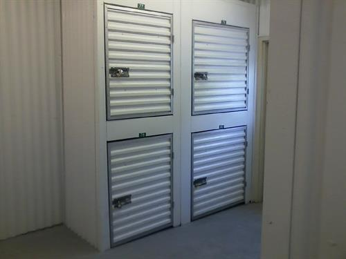 Small Lockers-Perfect storage space for a few boxes. Great for Students and Snowbirds