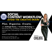Social Content Workflow - Avoid the Creative Drain! - 20/21
