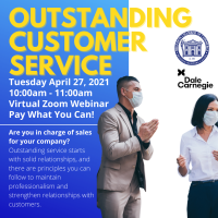 20/21 - Outstanding Customer Service Workshop with Dale Carnegie