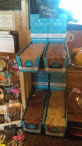 We are also now carrying fudge!  Come in and check it out (We may just have a sample for you!)