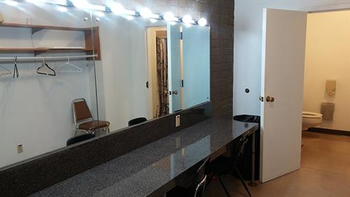 One of the dressing rooms