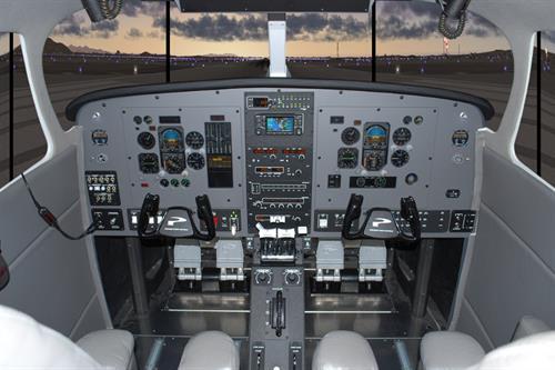 MFD Simulator w/ 180 degree visual
