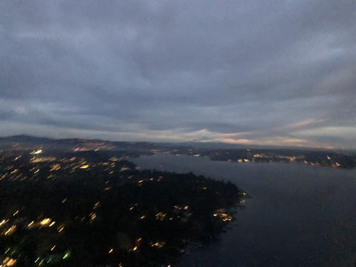Last flight out. Just after sunset in Renton