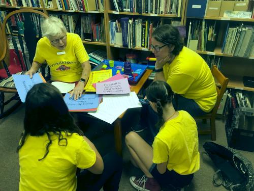 Volunteer at Tynkertopia.org in Flagstaff with Dr. Alice Christie (retired ASU President's Professor)