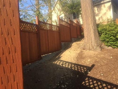Fence with elevations