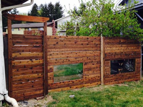 Customized fence dog windows