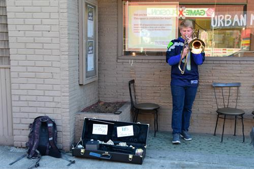 Local musician at Urban Market event photo credit Gary Palmer