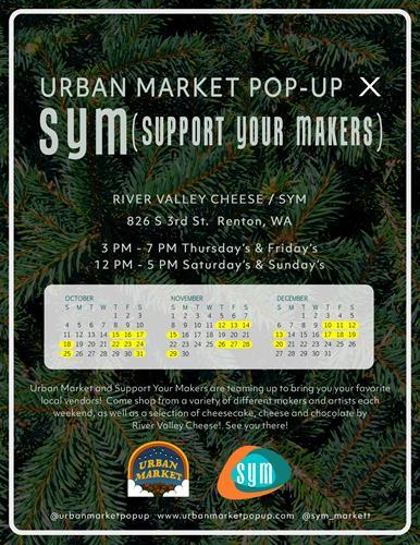 Urban Market & S.Y.M. collaboration 2020 - Flyer by Alesha Krehbiel
