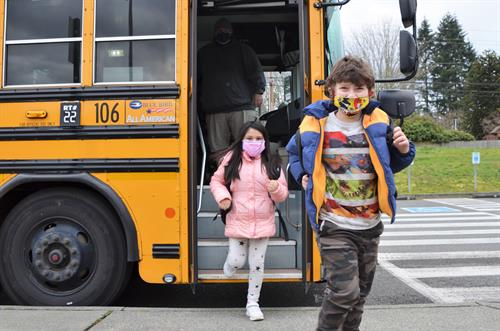 Students arrive safely to school.