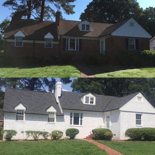 Before and After -GAF Camelot Shingle Installation