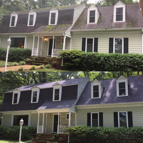 Before and After - Architectural Shingle Roof System