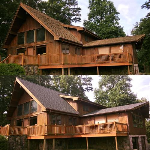Before and After -Architectural Shingle Roof Installation