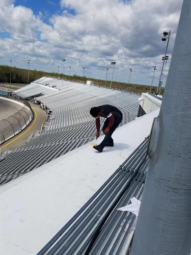 TPO Flat Roof at Richmond Raceway