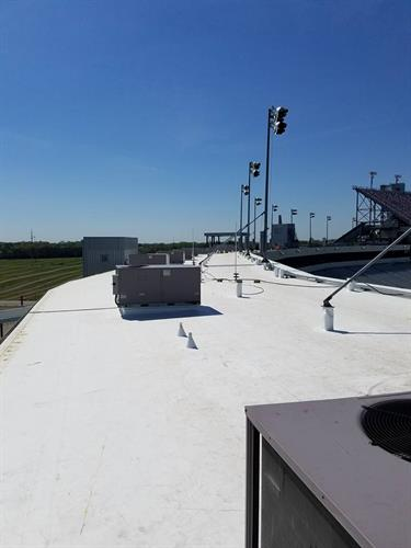 TPO Flat Roof Installation at Richmond Raceway