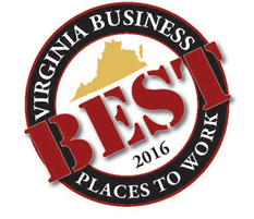 We were incredibly honored to be recognized as one of the Best Places to Work in Virginia in 2016!